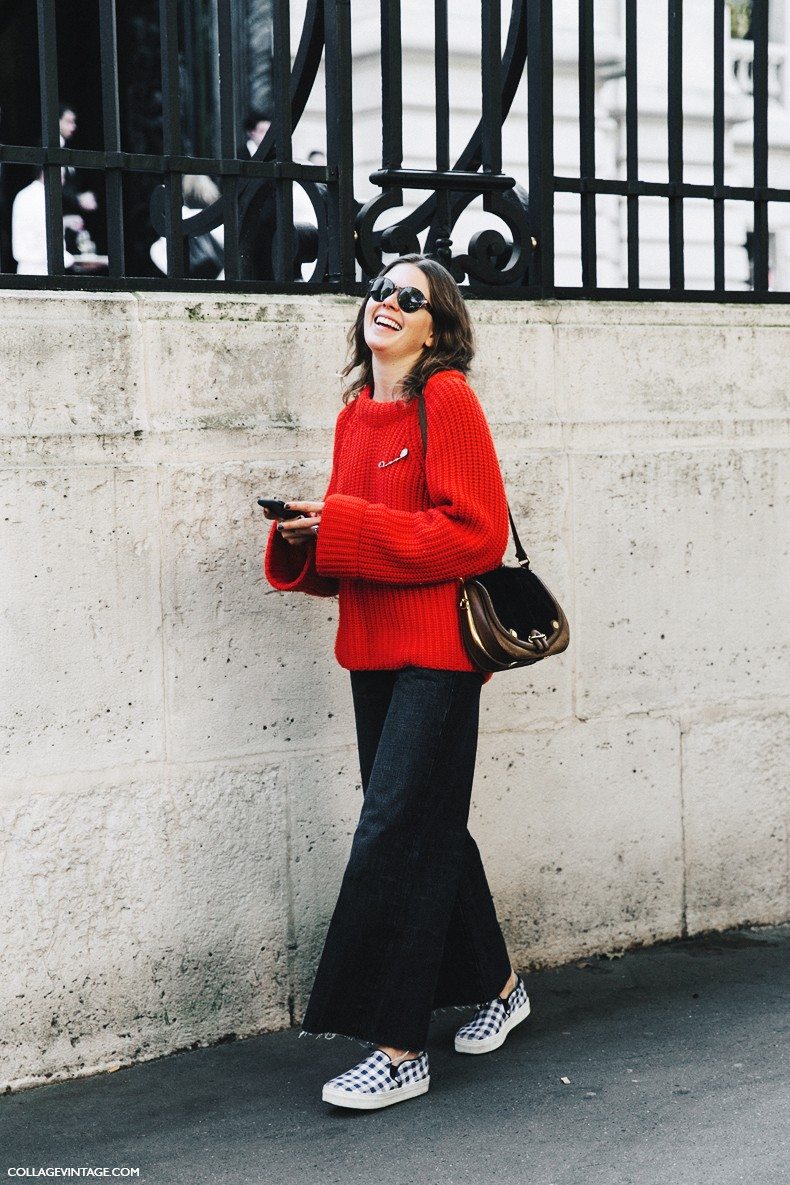 PFW-Paris_Fashion_Week-Spring_Summer_2016-Street_Style-Say_Cheese-Red_Sweater--790x1185
